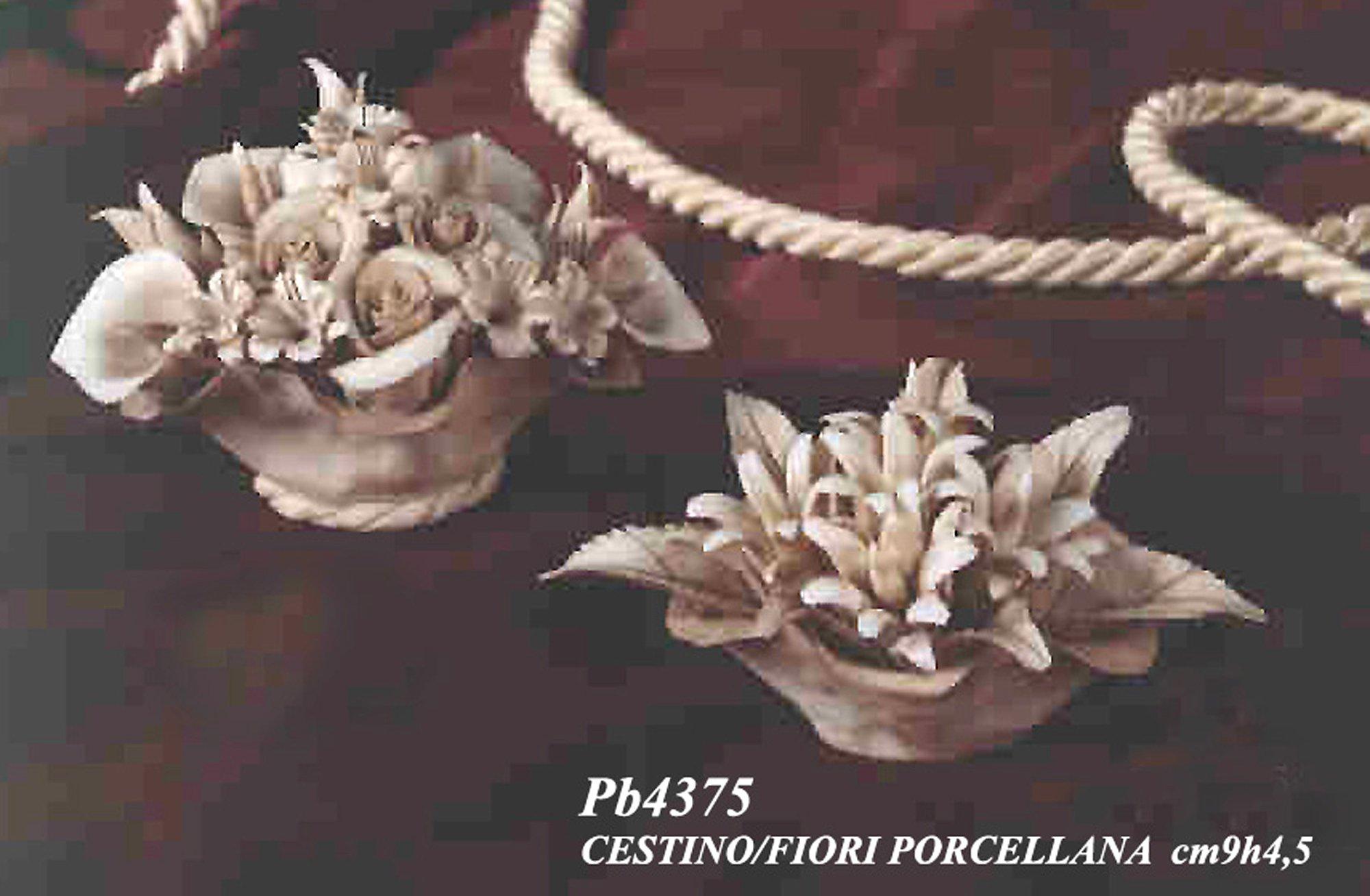 Bomboniera cestino fiore calle in porcellana set 6 pezzi