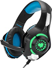 Cosmic Byte GS420 Headphones with Mic, RGB LED lights and Audio Splitter for PS4, Xbox One, Laptop, PC, iPhone and Android P