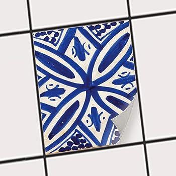 Creatisto Küche Bad Fliesentattoo | Küchenfolie Küchen Fliesen Fliesenbild  Badezimmerdeko | 15x20 Cm Muster Ornament Spanish Tile 7 1 Stück