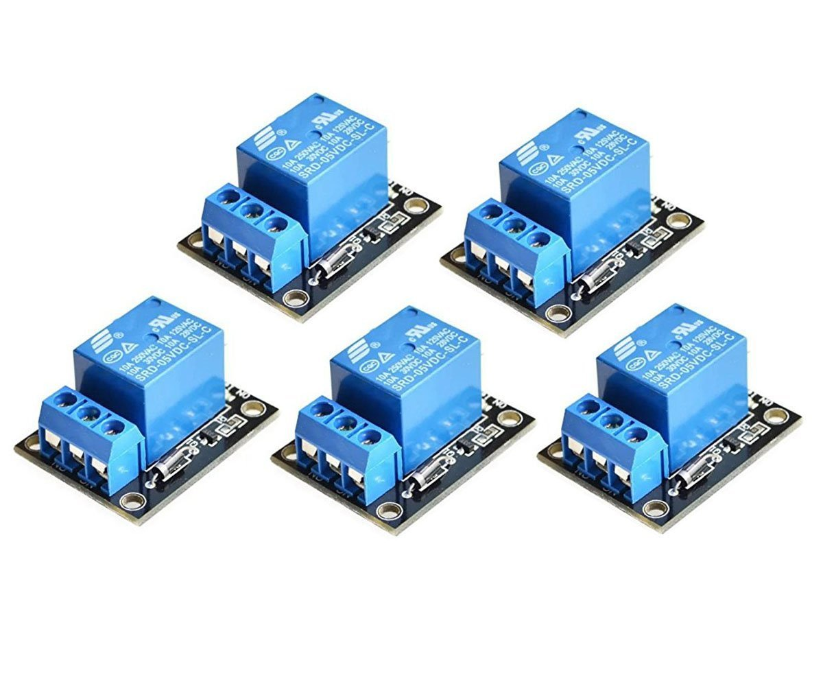 Youmile 5-Pack 5V One 1 Channel Relay Module Board Shield For PIC AVR DSP ARM MCU Arduino