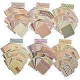 TSLBW 360 Feuilles Papier Scrapbooking Matériel de Papier à Motif Vintage Papier Mariage Vintage différentes Tailles et Forme