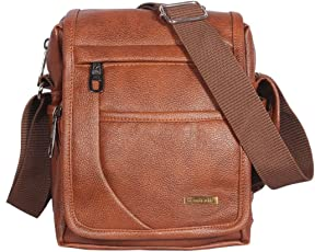 Handcuffs Trendy Rust Color Sling Bag for Men for Daily Use (BFSLNG30)- 10 Inch