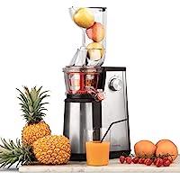 Extracteur de Jus de Fruits et Légumes vertical GSX22 H.Koenig - Centrifugeuse Vitamin + sans BPA - 82 mm Large Bouche…
