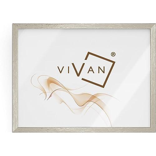 VIVAN Riquadro Cornice, Legno, Argento, Formato Immagine A3