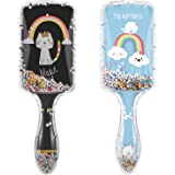 Popuppe Spazzola per capelli, set da 2 spazzole per capelli districante spazzola per capelli per capelli spessi ricci sottili