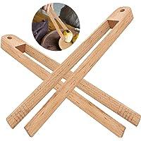 2pcs pinces en bambou petites pinces à pain en bambou pinces en bois pinces à grille-pain pince à épiler pinces à grille…