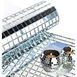 WDragon 2400 stuks echt glas mozaïektegels, stickers, zelfklevend, 5 mm x 5 mm