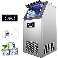 Z ZELUS Machine à Glace Commerciale avec Production de 60kg par 24h, Machine à Glaçons Électronique 300W-480W 4X9/36 pcs…