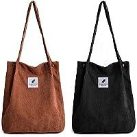YLXQJIN Umhängetasche Damen Groß Handtasche Damen 2pcs Cord Tasche Damen Schultertasche Shopper Damen für Büro Schule…