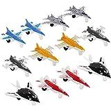 12 Piece Mini Diecast Metal Fighter Jets Air Force Set