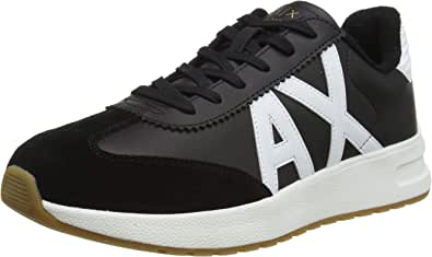 ARMANI EXCHANGE Leather Suede Sneakers, Scarpe da Ginnastica Uomo