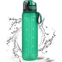 FRETREE Sports Water Bottle 1L, BPA Free Tritan Non-Toxic Plastic Drinking Bottle, Leakproof Design for Teenager, Adult…