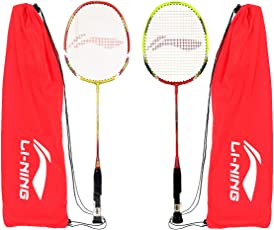 Li-Ning XP80-XP90 Aluminum Badminton Racquet Combo (Multicolour)