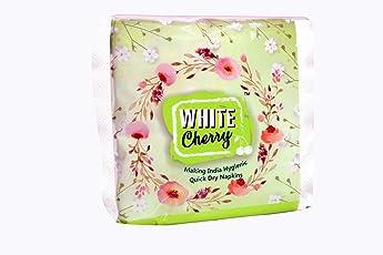 White Cherry Non Woven Napkin - 50 Wipes per Pack (Pack of 2)