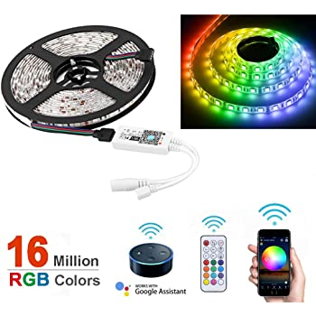 Flexible RGB 150-300 LED Strip Light Kit Waterproof Tape Multi-coloured 5m 5050
