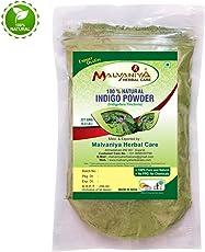 Malvaniya Herbal Care Indigo Leaves Powder |Indigofera Tinctoria 100% Natural Hair Dye -227 Grams