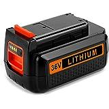 Energup 36V 2.5Ah Li-ion Batterie de Remplacement pour Black & Decker 36V bl2036 BL20362 LBX2040 LBX36 LBXR36 LBXR2036