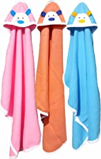 BRANDONN Newborn Original 3PCS. Big Size (36 X 27) Cute Baby Blankets for Babies (Orange, Pink, Blue; Pack of 3)
