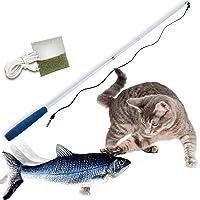 Mediashop Flippity Fish – elektrisches Katzenspielzeug – Katzenminze - wiederaufladbar mit USB Kabel - Verschiedene…