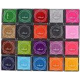 20 Couleurs Tampon Encreur Coloré Mignon Timbre Bricolage Tampons Encreurs Pour Enfants Tampon en Caoutchouc Scrapbooking Déc