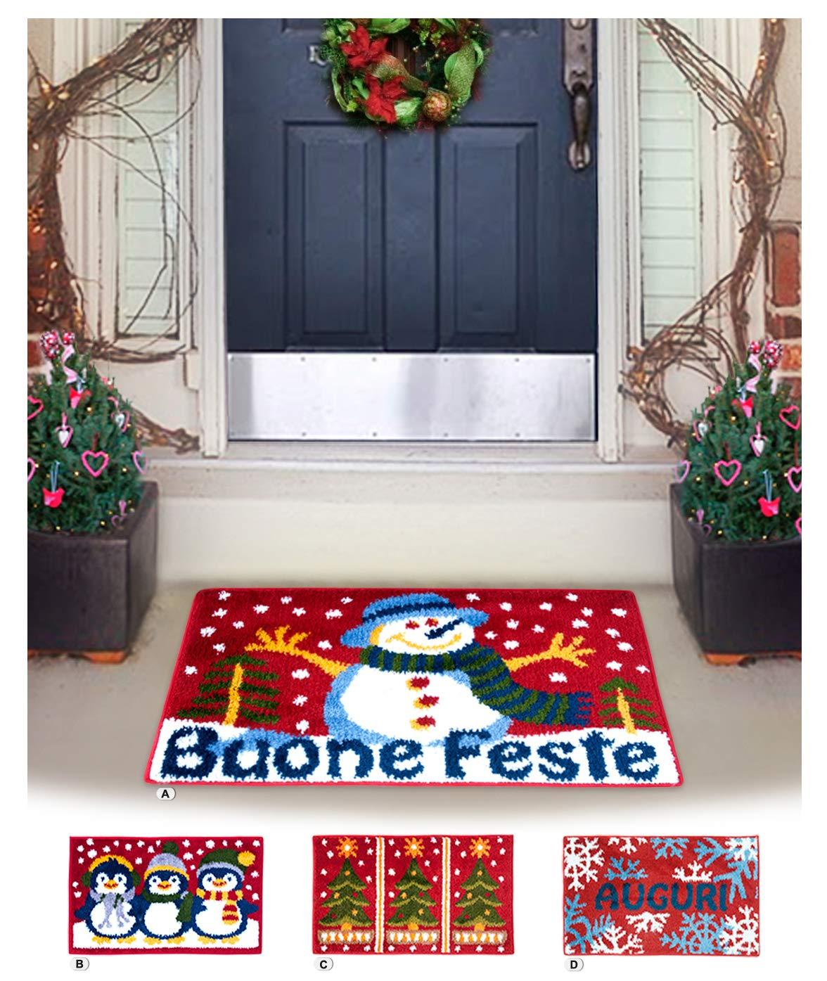 Un tappeto natalizio per ingresso