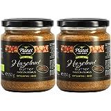 Planet Plant-Based Mantequilla de avellanas, 2 frascos (2x250g) - orgánica, vegana, sin gluten. 2 frascos (2x250g), sin aditi