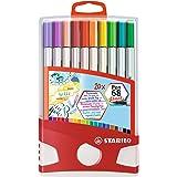 Pennarello Premium con punta a pennello per linee spesse e sottili - STABILO Pen 68 brush Colorparade - Astuccio da 20 - con