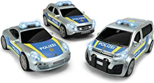 Dickie Toys 203712014 sort Unit Police Vehicle Toy Car 3 Models Porsche, Citroën or Mercedes Random Selection 15cm 3+, Multicoloured, ca. 15 x 6,5 cm