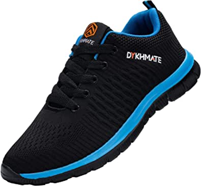 DYKHMATE Mens Womens Trainers Running Shoes Lightweight Breathable Athletic Walking Sneakers Gym Casual Shoes
