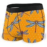 Dragonflies in Hand-Painted Style Men's Underwear Boxer Briefs Comfortable Briefs Shorts S-XXL
