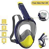 WOTEK Schnorchelmaske Vollmaske Tauchmaske Vollgesichtsmaske Tauchermaske für Kinder und Erwachsene-Snorkel Mask Full…