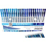 24 Blue Gel Pen Set by OfficeGoods with Refills = 48! Perfect for Lakes, Birds, Skies, Flowers Etc Will Pop Off the Page – Pr