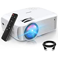 """TOPVISION Retroprojecteur, 6000 Lumens Mini Projecteur Portable 1080P Natif Soutien 1080P Full HD avec 240"""" Display…"""