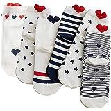 Gomerbesen Lot de 6 paires de chaussettes basses en coton pour femme