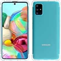 Migeec Cover per Samsung Galaxy A71 - Ibrido Cristallino Custodia Cuscino d'Aria Tecnologia paraurti in Gel Custodie…