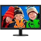 Philips 243V5LHSB/00 59,9 cm (23,6 Zoll) Monitor (VGA, DVI, HDMI, 1920 x 1080, 1 ms, 60 Hz) schwarz