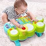Ohuhu Babyspielzeug Klavier und Trommel Musikspielzeug für Baby und Kleinkinder, Spielen Klaviertastatur, Xylophon…