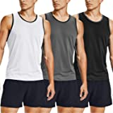 COOFANDY Men's Gym T Shirts Sleeveless 3 Pack Gym Workout Tops Short Sleeve Muscle Bodybuilding Vest