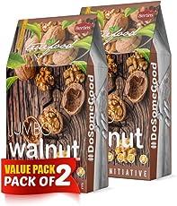 BERTINS Jumbo Raw Walnuts (400g) - Pack of 2