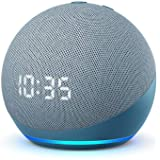 Echo Dot (4th generation) | Smart speaker with clock and Alexa | Twilight Blue