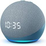 Nuovo Echo Dot (4ª generazione) - Altoparlante intelligente con orologio e Alexa - Ceruleo