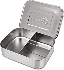 Stainless Steel : LunchBots Trio 2 Stainless Steel Food Container - Three Section Design Perfect for Healthy Snacks, Sides, or Finger Foods On the Go - Eco-Friendly, Dishwasher Safe and BPA-Free - All Stainless