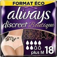 Always Discreet Boutique Culottes Hygiénique, Taille M, 36 Serviettes (4x9 Pack), Format Éco, Pour Incontinence/Fuites…