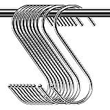 Lot de 30pcs Crochets en S de suspension multifonctions Crochets en forme de S finition chrome Crochet S pour salle de bains,