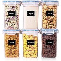 Vtopmart Lot de 6 boîtes de Conservation de Nourriture en Plastique avec Couvercle hermétique sans BPA 1,6L (Bleu)