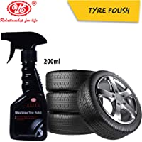 UE Elite Ultra Shine Tyre Polish to Shine Black Look, Dry to Touch, Zero dust Attraction & Spotless -200 ml Car Care/Car…