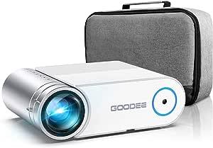Goodee Mini Projektor 5500 Lumen Tragbarer Hd G500 Videoprojektor 200 Zoll Display 1080p Unterstützt Lcd Heimfilm Projektor Kompatibel Mit Tv Stick Hdmi Vga Av Usb Micro Sd Heimkino Tv Video