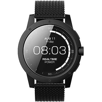 MATRIX PowerWatch MATPW03 - Smartwatch (Resistente al Agua 50 m, Funciona con Calor Corporal), no necesita recargar, con PowerWatch App - Color Negro