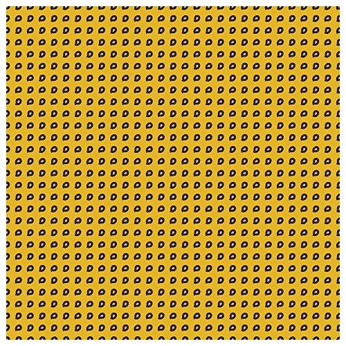 TigerTie pochette en soie avec petit paisley motif - pochette 100% soie jaune foncémarron