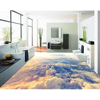 Weaeo 3D-Stock Malerei Wallpaper High-Altitude Wolken 3D-Bodenbeläge ...